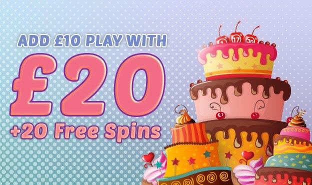 Bingo and Slots | £20 + 20 spins Welcome Offer | Cupcake Bingo